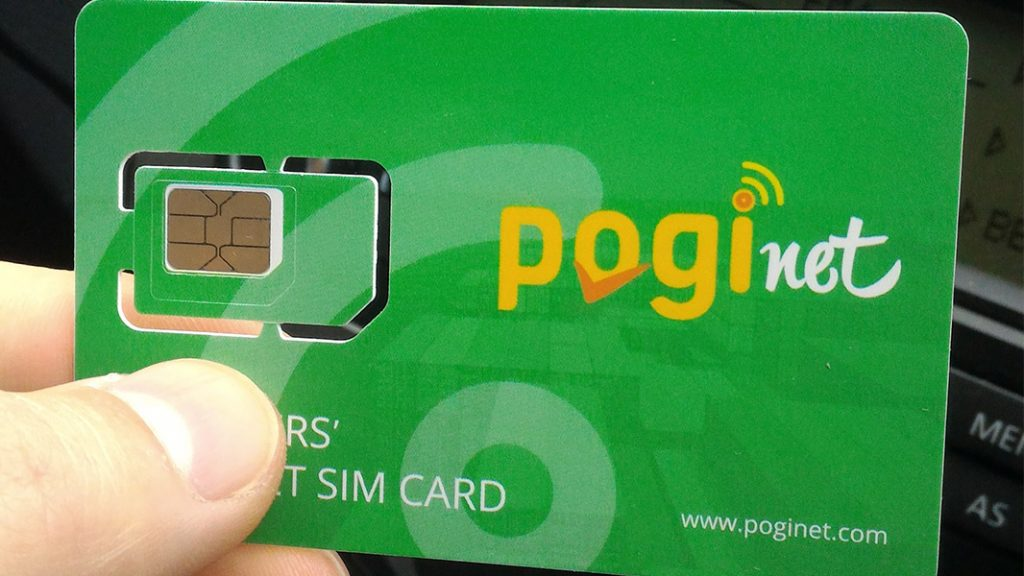 poginet internet SIM